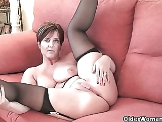 British milf Joy exposing her big tits and hot fanny amateur mature milf sex