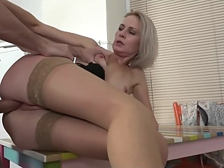 mom seduced friends stepson upskirt blonde voyeur sex