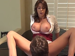 Mommy please let me fuck you, son requests amateur anal blowjob sex