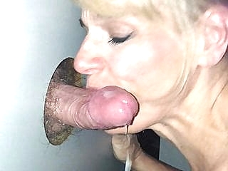 Glory Hole Slut Gets the Cum blonde blowjob cumshot sex